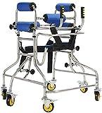 LYP Andador Rollator Walker con 6 Ruedas 360 ° Rotación del Rodillo y la axila de Apoyo del reposabrazos Permanente Movilidad Andador AidStand con la Altura de la Rueda Asiento Ajustable