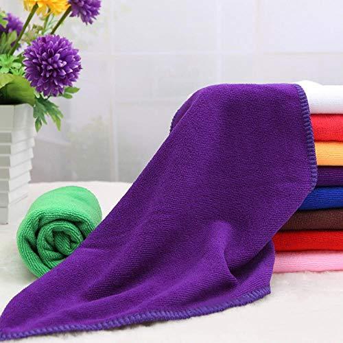 LASISZ Fibre Towel for Swimming Pool Camping Travel Sports Yoga 25 * 25cm/30 * 70cm Microfiber Bath Towel Terry Fabric Muslin Face Cloths,Purple,S