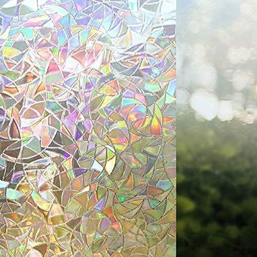LanLan Kleurrijke raamfolie 3D statisch onregelmatige patronen - niet klevend 3D