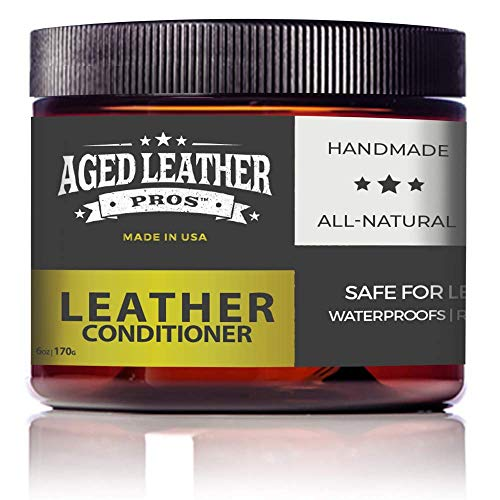 Beeswax Leather Conditioner to Protect, Soften & Restore Recommended by Pros for Genuine Leather, All Natural & Non-Toxic, Made in USA, 6 oz