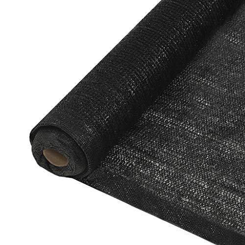 Festnight Filet de Protection Brise-Vue Brise Vue Balcon Brise Vue Jardin PEHD 1,5 x 25 m Noir