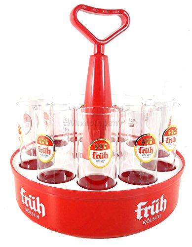 Früh Kölschkranz 11er + 11x Früh Biergläser 0,3L
