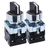 Taiss - 2 conmutadores selectores giratorios de 22 mm....