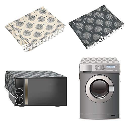 2 unidades de protección contra el polvo para frigorífico, nevera y microondas, 30 x 90 cm + 130 x 55 cm