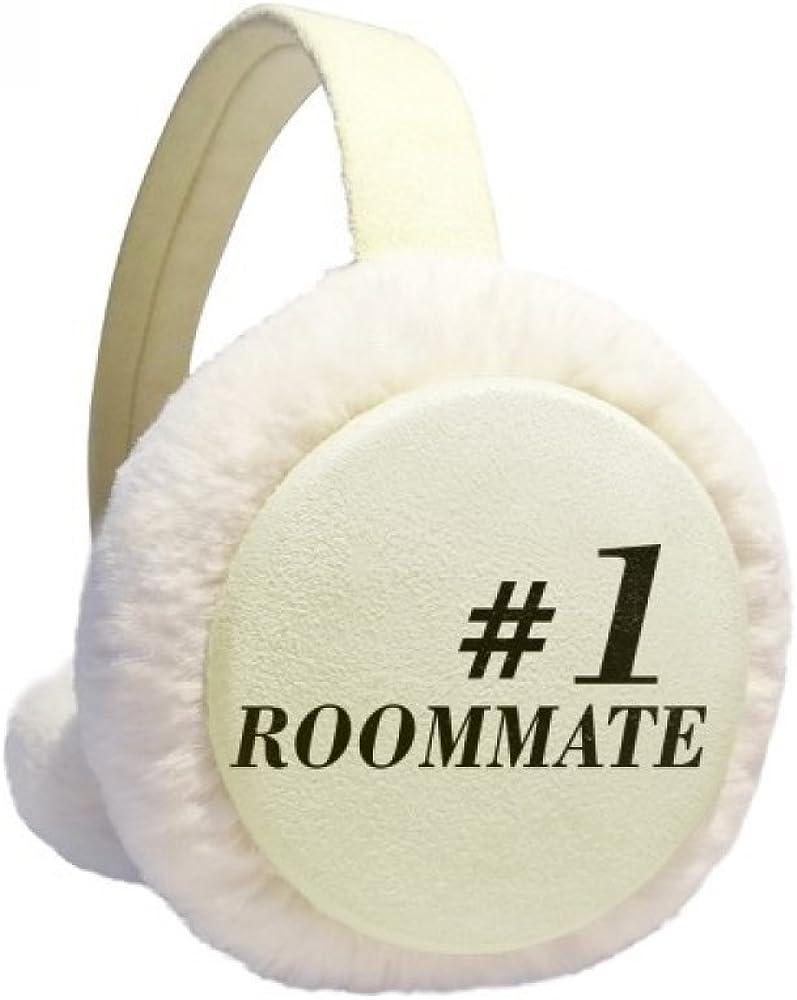 Number.1 Roommate Graduation season Winter Ear Warmer Cable Knit Furry Fleece Earmuff Outdoor