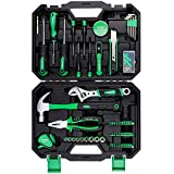 Tool Kit for Home, METAKOO 100 Pieces Home Repair Basic Tool Kit Sets, Plating Surface, Cr-V General Household...