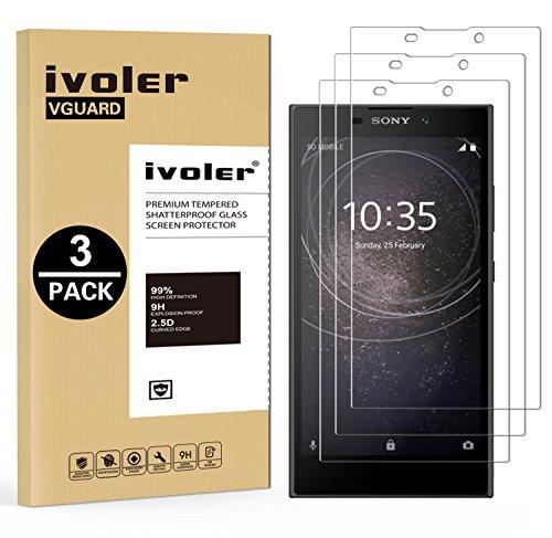 ivoler [3 Stücke] Panzerglas Schutzfolie für Sony Xperia L2, 9H Festigkeit, Anti- Kratzer, Bläschenfrei, [2.5D R&e Kante]