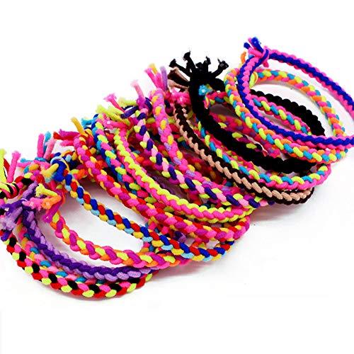 Fashion Braided Super Stretch Hair ties Elastic 30 Pack, Hair Bands Women Hair Accessories Ponytail Holder
