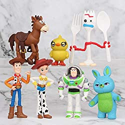 ✅ FUN AND CUTE: Because all kids love the Story Toy movies, we have designed a set of 7 action figures with their favorite characters. Let your kid make their own stories of Buzz, Woodie, and Rex as the adventure continue in your own home. ✅ HIGH-END...