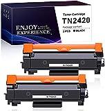 Zam-brero TN-2420 TN2420 Cartucho Tóner Compatible para Brother MFC-L2710DN MFC-L2710DW MFC-L2730DW MFC-L2750DW DCP-L2550DN DCP-L2530DW DCP-L2510D HL-L2375DW HL-L2370DN HL-L2350DW (2 Negro)