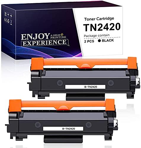 Zam-brero Compatibile Toner TN2420 Sostituzione per Brother TN2420 TN2410 per Brother MFC-L2710DW MFC-L2710DN MFC-L2730DW MFC-L2750DW HL-L2350DW HL-L2375DW HL-L2370DN DCP-L2510D DCP-L2550DN (2 Nero)