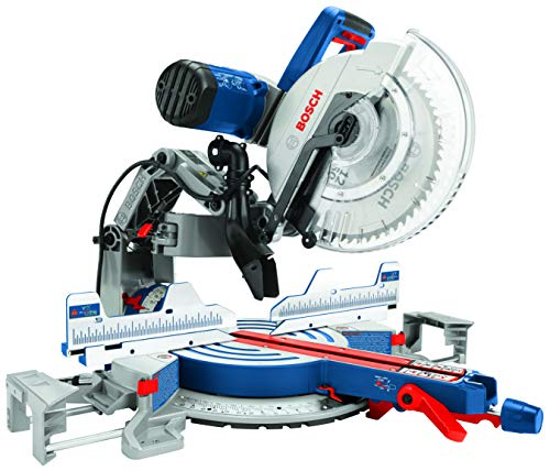 BOSCH GCM12SD Power Tools GCM12SD-15 Amp 12 in. Corded Dual-Bevel Sliding Glide 60 Tooth Blade Miter Saw, 120 V, Blue, Full Size