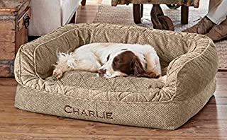 Orvis Comfortfill-eco Couch Dog Bed/Small Dogs Up to 40 Lbs, Brown Tweed,