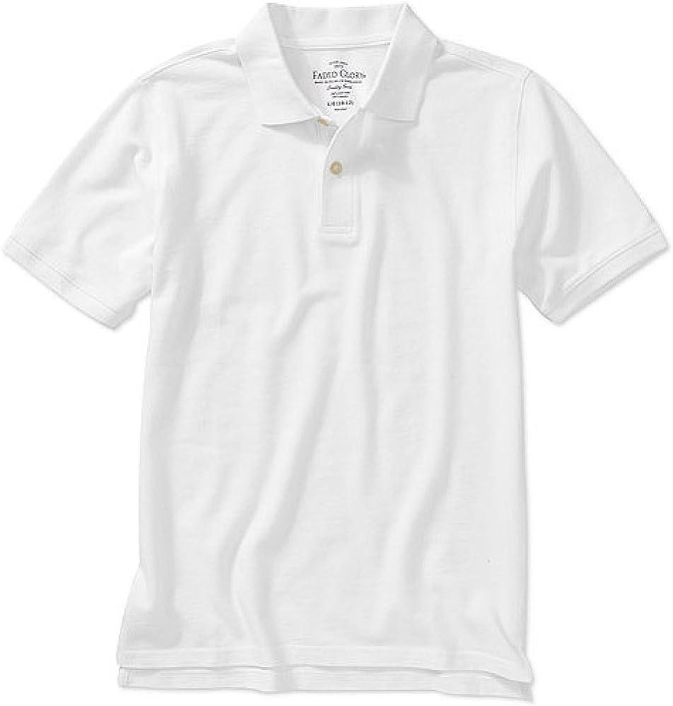 Faded Glory Boy's Short Sleeve Polo Shirt (X-Large (14/16), White)
