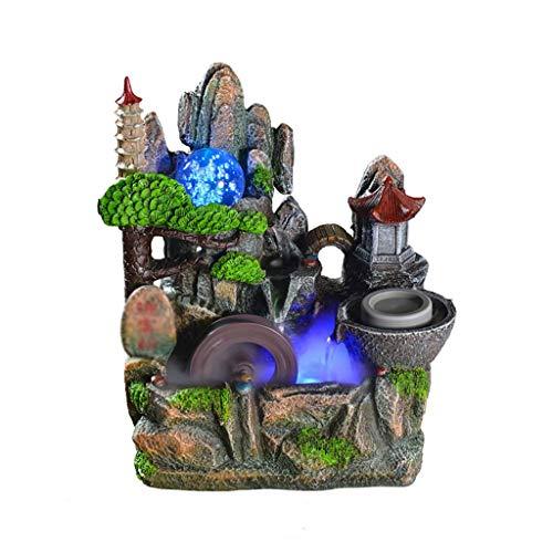 NXYJD Corriente de Agua Adornos, característica del Agua decoración del hogar de Alta montaña y la Corriente de Agua de Escritorio Decoración Resina Adornos