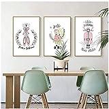Póster de decoración del hogar, impresiones, arte de pared, lienzo, imagen nórdica, zapatos de Ballet, cocodrilo y tranvía-20x28inx3 sin marco