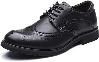 7f82f57f4a Apragaz Chaussures habillées Classiques pour Hommes, Souliers de Chaussures  Brogues à Bouts Ronds à Bouts