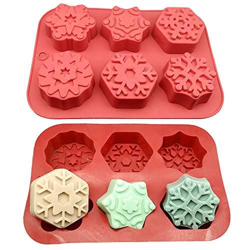 YOMOMO Bricolage 6 Types de moules à gâteaux en Silicone avec 6 Treillis et Formes différentes Fournitures de Cuisine Petits appareils moules à gâteaux Rouges enfantins (Rouge)