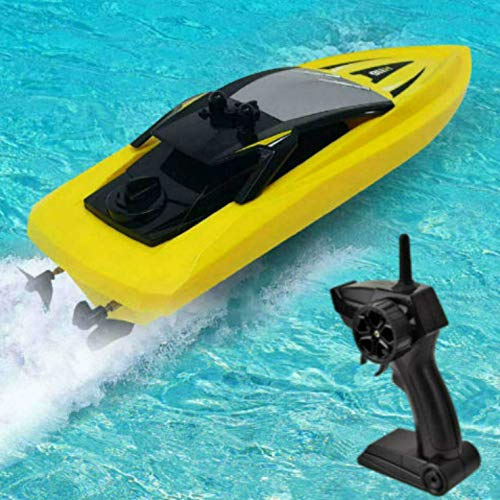 SkyCo Remote Control Boats for Pools and Lakes Rc Boat for Kids or Adults, Outdoor Adventure Pool Toys, High Speed Remote Control Boat Toy for Boys and Girls Yellow 116