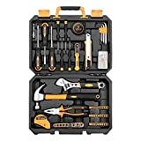 DEKO 100 Piece Home Repair Tool Set,General Household <span class='highlight'>Hand</span> Tool Kit with Plastic Tool Box Storage.