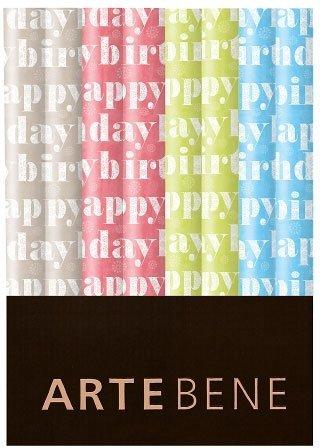 Unbekannt Artebene Geschenkpapier Happy Birthday M2 70x200 cm Rolle