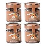 Dalia Gourmet - Crema di Nocciole e Cacao con 66% di Nocciole - Dolcificato con Eritritolo-Stevia, Nocciola, 800G - Prodotto in Italia