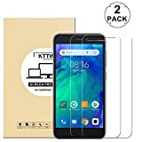 [2 Pack] Xiaomi Redmi Go Screen Protector Glass, KTtwo 9H Hardness Tempered Glass Anti-Scratch Bubble-Free Screen Protector for Xiaomi Redmi Go/Xiaomi Redmi 5A
