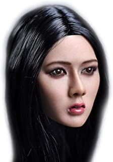 HiPlay 1/6 Scale Female Figure Head Sculpt, Asia Female, Doll Head for 12