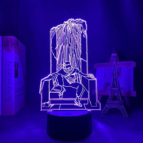 3D anime lámpara ilusión Akira Shima Tetsuo llevó la luz para la decoración del dormitorio luz nocturna niños cumpleaños regalo escritorio noche luz Akira Shima Tetsuo