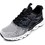 Kelanda Men's Sports Shoes Gym Fitness Comfortable Breathable Non-Slip Lace Up Walking Sneakers