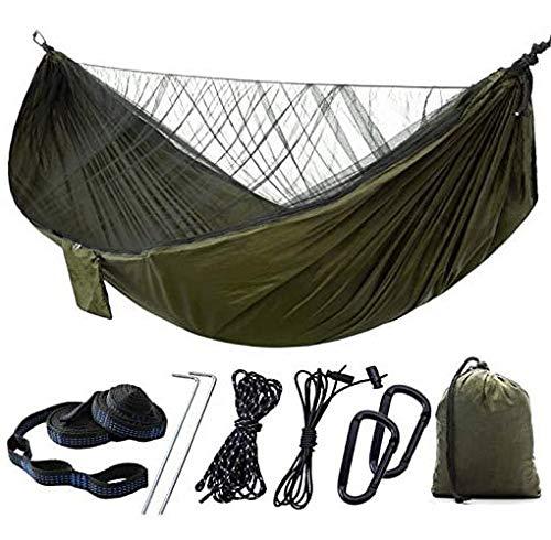 Hamaca De Camping con Mosquitera, 1/2 Persona Hamaca De Viaje Al Aire Libre Hamaca Portátil De Nailon Ligero para Acampar, Senderismo, Mochilero, Viajes, Playa