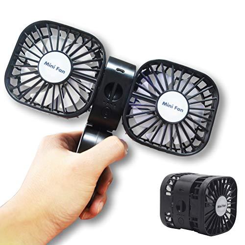 Naduew Ventilador Portátil Mini Ventilador Ajustable Ventilador de mano USB Ventilador de viaje para Escritorio Viaje Deporte Oficina