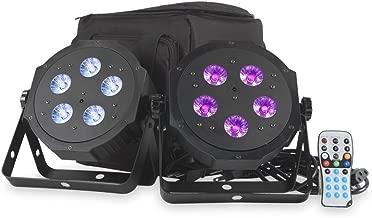 ADJ Products VPAR PAK Compact Low Profile LED Par Kit with Two VPAR LED Quad Colored, Soft Case Gig Bag and Remote