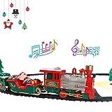 Biggystar Weihnachten Zug Kind kleine Spur Zug Spielzeug elektrisches Licht Musik -
