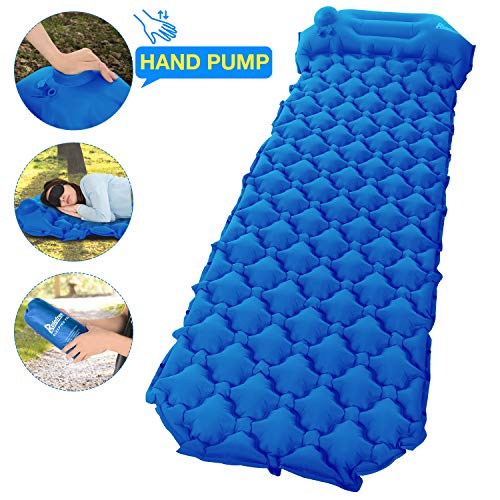 Relefree Camping Mat Sleeping Mat with Pillow Ultralight Folding Camping Air Mattress For Outdoor