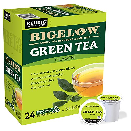 Bigelow Green Tea Keurig K-Cup Pods, 24 Count Box (Pack of 4) Caffeinated 96 K-Cup Pods Total