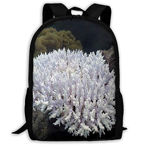 TTmom Zaini/Zaino Casual,Borse a Zainetto, Backpack White Coral Reefs...