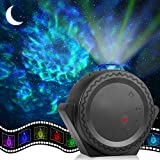 Star Projector, ECOWHO Galaxy Projector, Night Light Projector Sky Light 3n1 Ocean Wave Star Moon Neubla for Kids, LED Projector Voice Timer Laser Projector for Adult Bedroom Christmas Ceiling