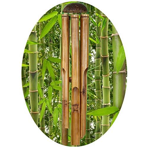 Simandra Windspiel Klangspiel Bambus Deko Mobile Klangröhren Klang-Spiel Entspannung Garten Türglocke Feng Shui 80 cm