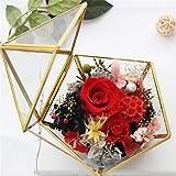 Somedays Geometrische Schmuck Box transparent Glas Blume Zimmer Glas Box Ring Box Ehering Schmuck...