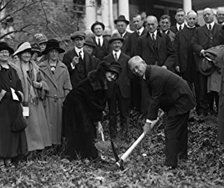 1924 photo Duncan Stuart & Mrs. E.K. Clinton break ground for Takoma Park Mas d1