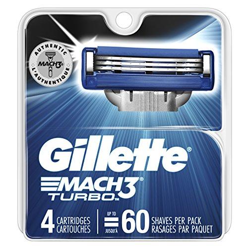 Gillette Mach3 Turbo Cartridges, 4 Count