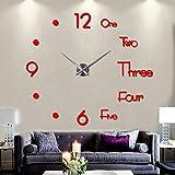 Elikeable New Frameless DIY Wall Clock,3D Surface...