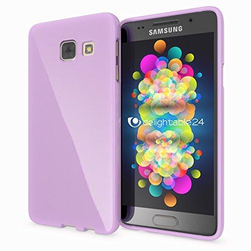 NALIA Custodia compatibile con Samsung Galaxy A3 2016, Cover Protezione Ultra-Slim Case Protettiva Morbido Cellulare in Silicone Gel, Telefono Gomma Jelly Smartphone Bumper Sottile - Viola