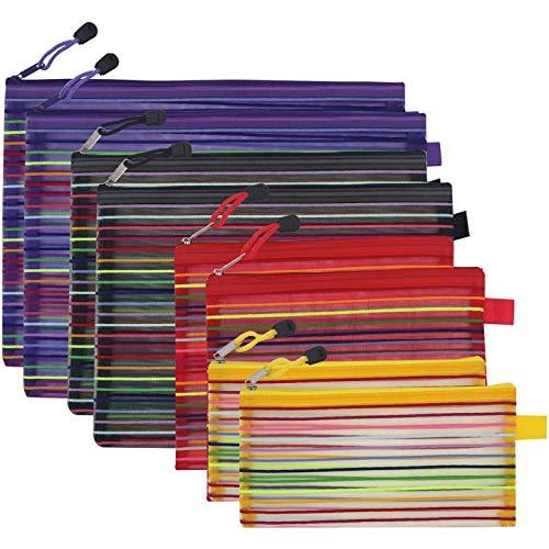 Varadyle Bolsas de Archivos con Cremallera Bolsa con Cremallera de Malla Bolsa Soporte de Archivos de Documentos de Viaje Carpeta Archivos Bolsa de Almacenamiento para Oficina de Escuela