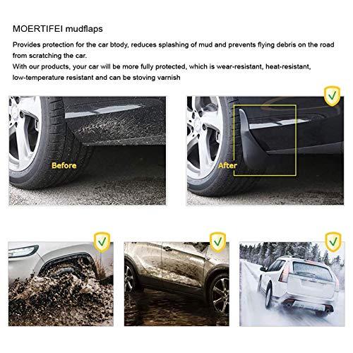 MINMIN 4 Pcs Set Car Mud Flaps, Fit for to-yota fortuner 2016-2019, Front Rear Rubber Mudguard Flares Splash Guards Fender Mudflaps Auto Accessories,Black