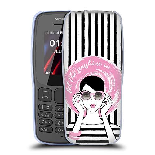 Officiële Martina Illustration Hoed Dames Soft Gel Case Compatibel voor Nokia 106 (2018)
