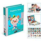 Magnetic Puzzles Toy, 3D Puzzle Jigsaw Brain Training Game Toy Preschool Children Intelligent