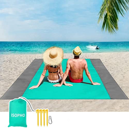 ISOPHO Alfombra de Playa Esterilla Playa, Manta Picnic Impermeable Manta de Picnic 210 X 200cm Manta...