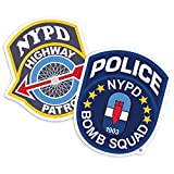 Popfunk New York City NYC NYPD Highway Patrol and Bomb Squad Logos Collectible Stickers